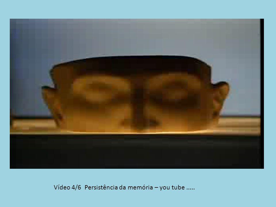 Vídeo 4/6 Persistência da memória – you tube.....