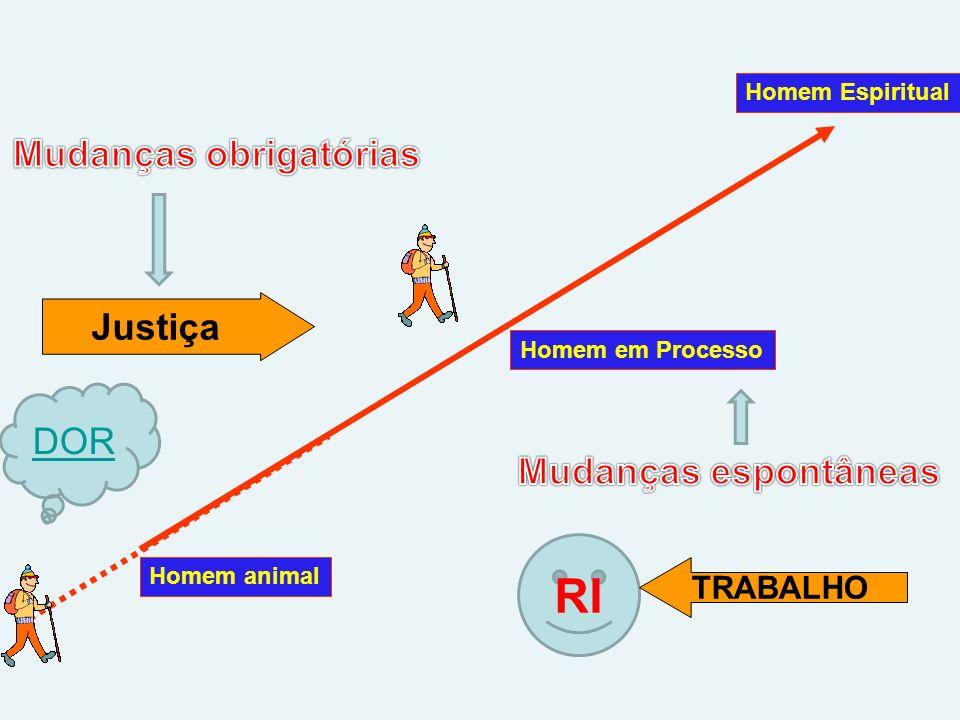Homem animal Homem Espiritual Homem em Processo RI DOR Justiça TRABALHO