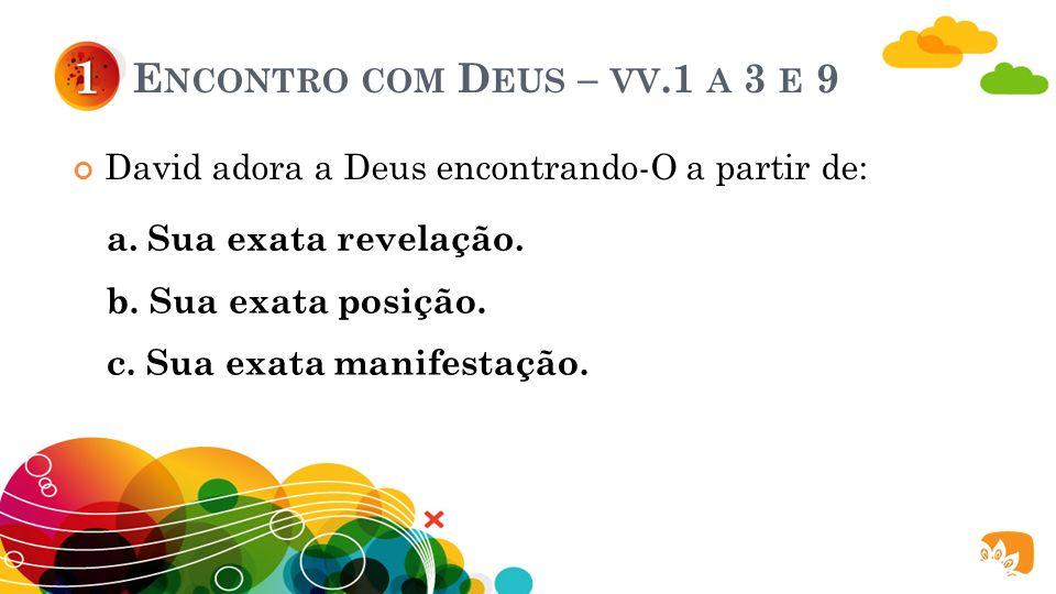 D OIS ENCONTROS ESSENCIAIS ENVOLVIDOS NA ADORAÇÃO AO S ENHOR : Encontro com Deus. 1