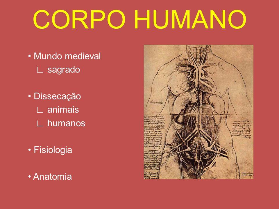CORPO HUMANO Mundo medieval sagrado Dissecação animais humanos Fisiologia Anatomia