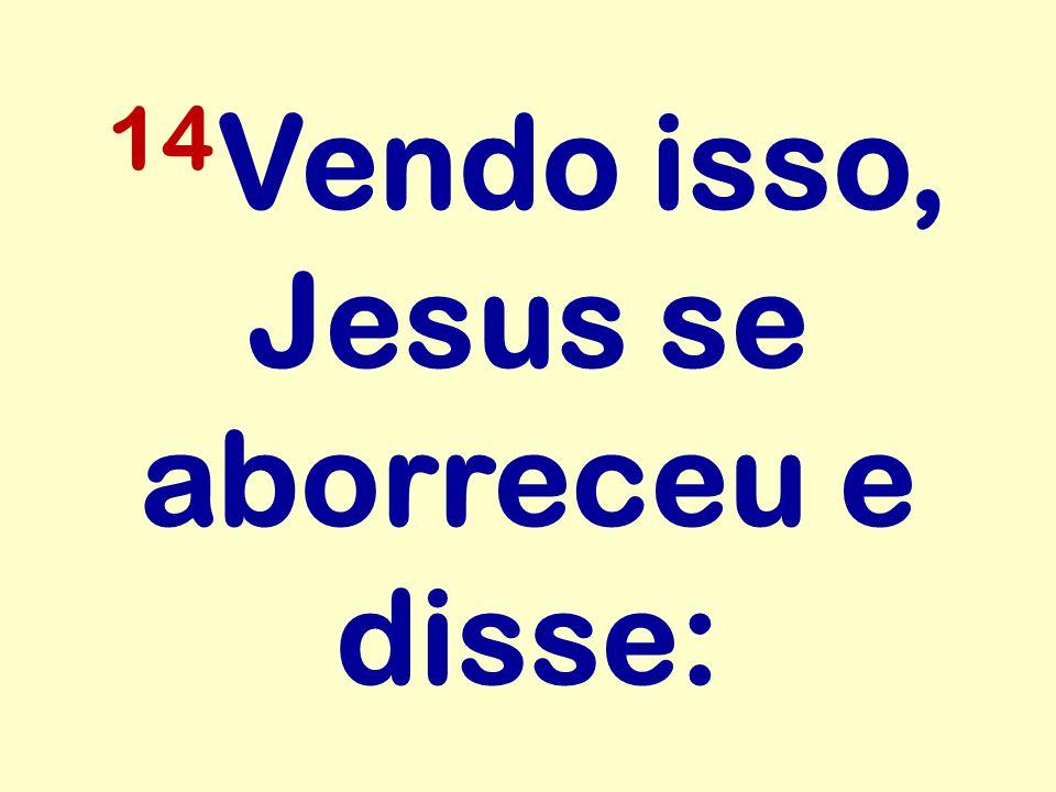14 Vendo isso, Jesus se aborreceu e disse: