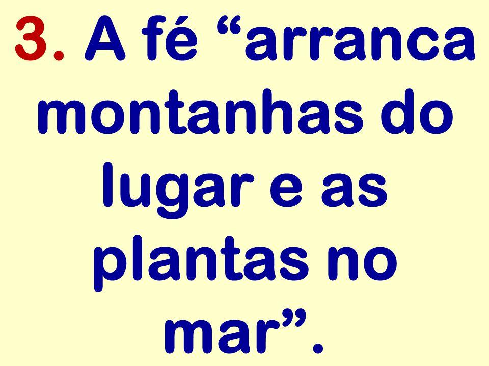 3. A fé arranca montanhas do lugar e as plantas no mar.