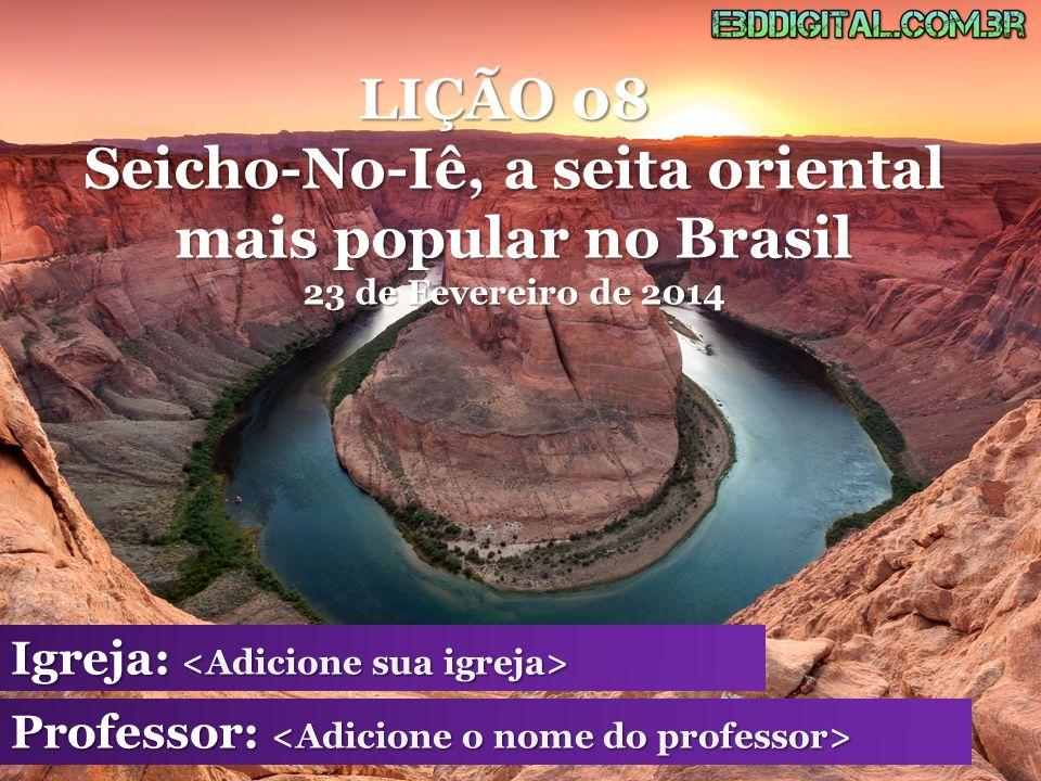 - Esta seita chegou ao Brasil em 1930, com os imigrantes japoneses.