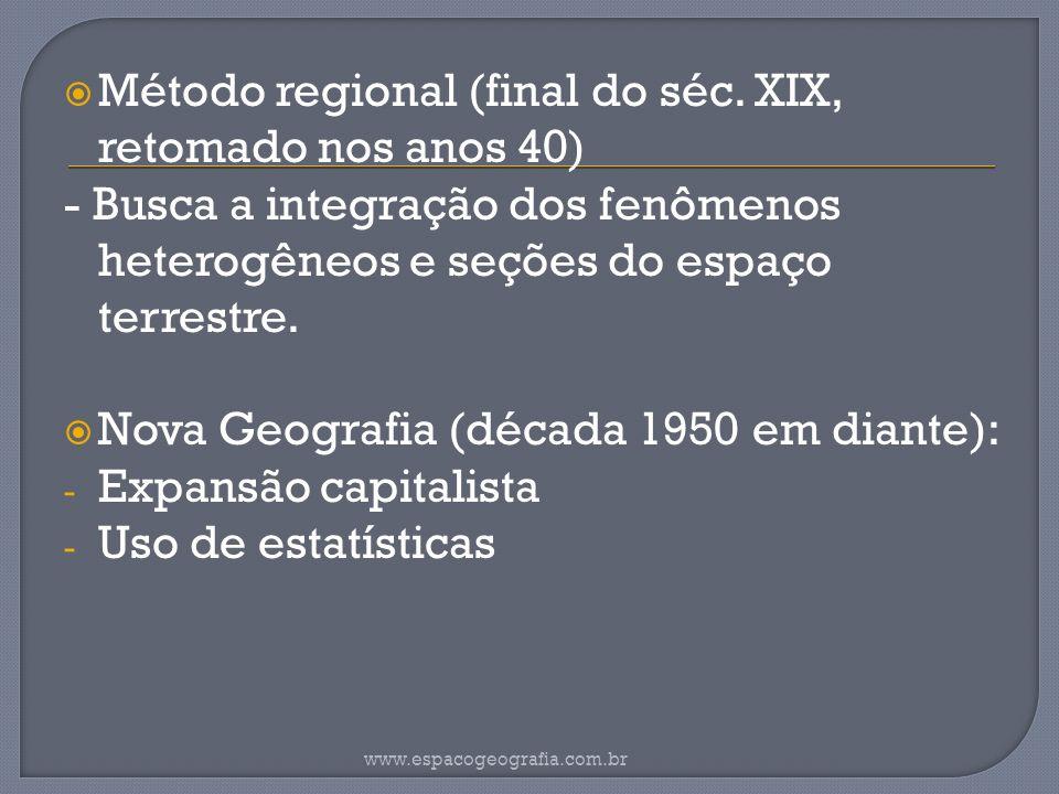 Método regional (final do séc.