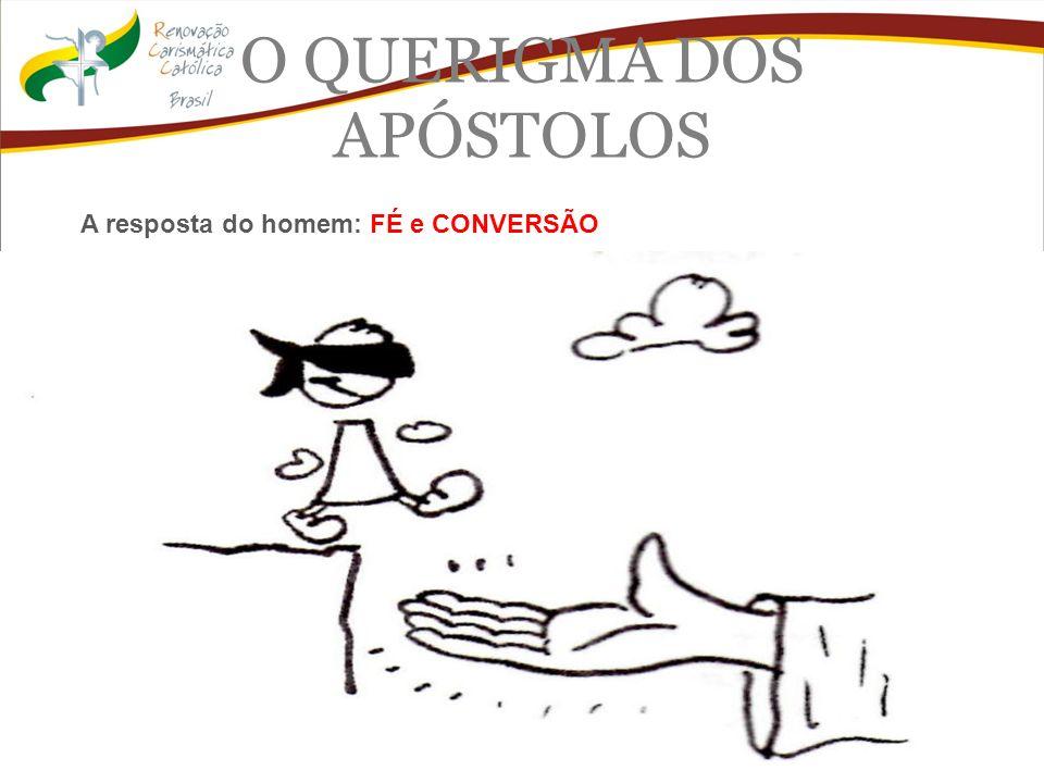 O QUERIGMA DOS APÓSTOLOS A resposta do homem: FÉ e CONVERSÃO