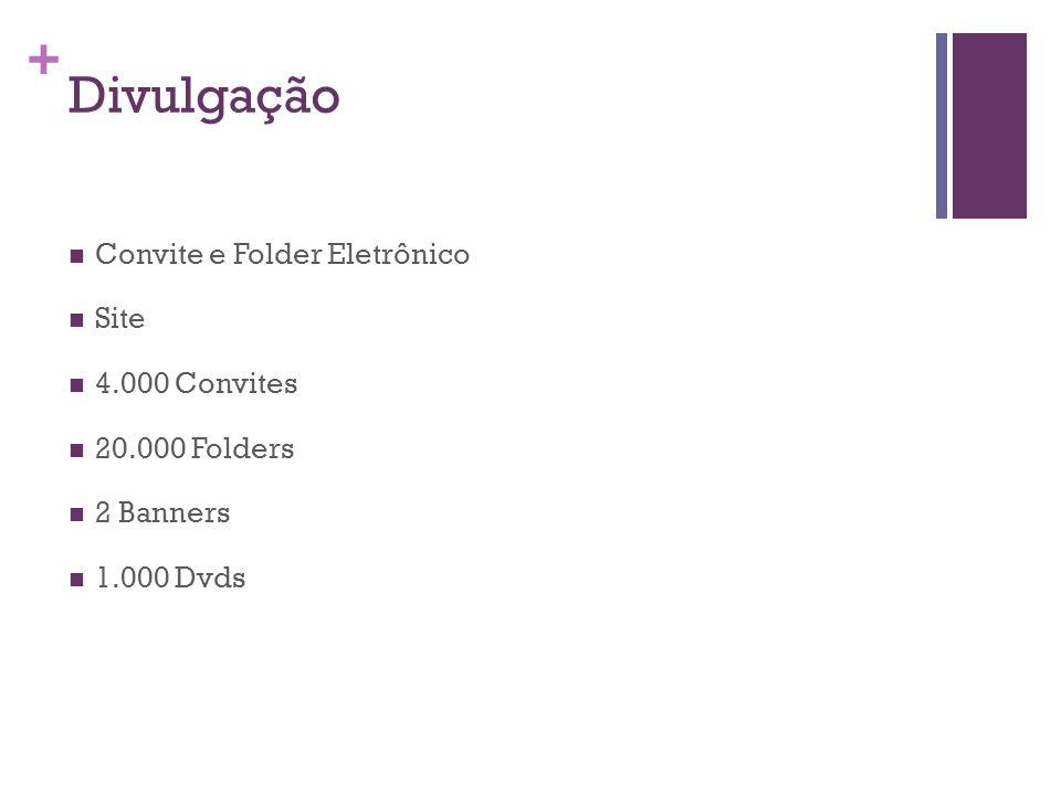 + Divulgação Convite e Folder Eletrônico Site 4.000 Convites 20.000 Folders 2 Banners 1.000 Dvds