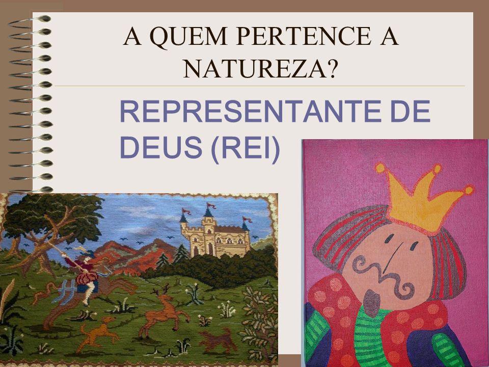 A QUEM PERTENCE A NATUREZA? REPRESENTANTE DE DEUS (REI)