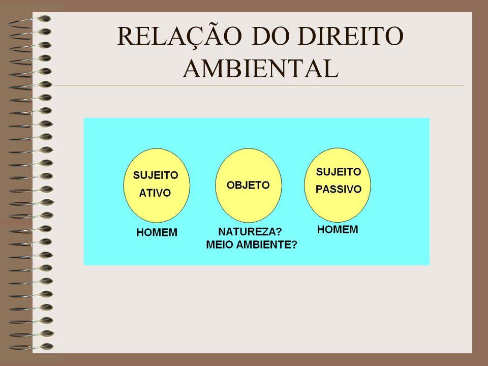 RELAÇÃO DO DIREITO AMBIENTAL