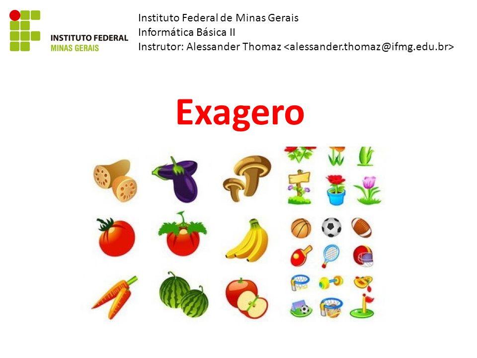 Instituto Federal de Minas Gerais Informática Básica II Instrutor: Alessander Thomaz Exagero