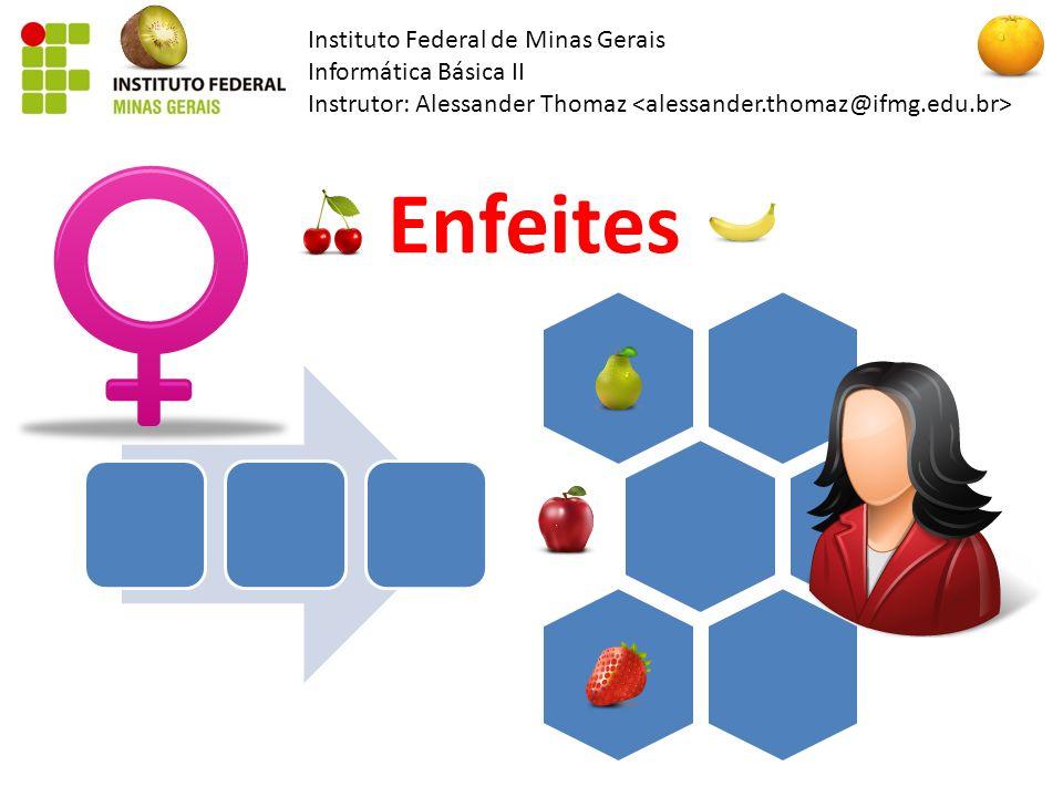 Instituto Federal de Minas Gerais Informática Básica II Instrutor: Alessander Thomaz Enfeites