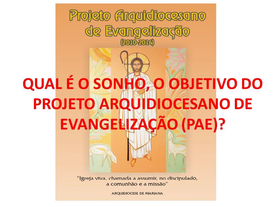 QUAL É O SONHO, O OBJETIVO DO PROJETO ARQUIDIOCESANO DE EVANGELIZAÇÃO (PAE)?