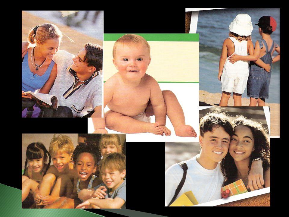 A infância vai do nascimento até o início da puberdade; A criança depende de outras pessoas para alimentá-la e protegê-la; durante esta fase o corpo d