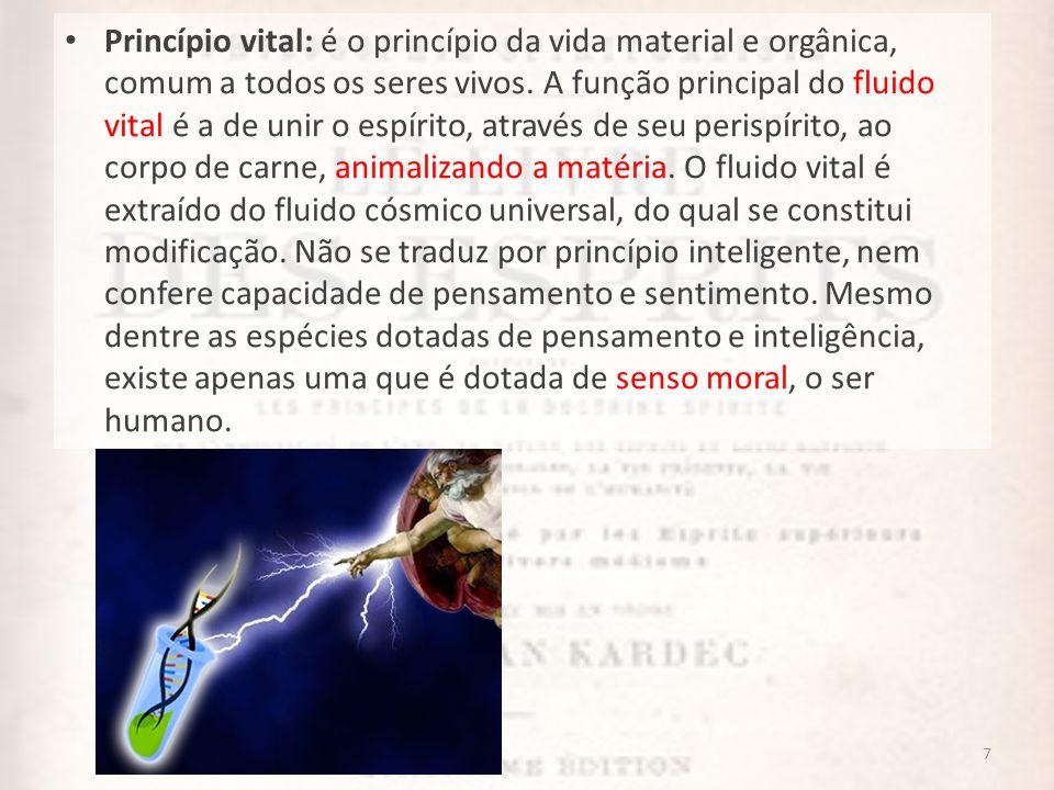 8 Alma: ser moral, distinto, independente da matéria e que conserva sua individualidade após a morte.