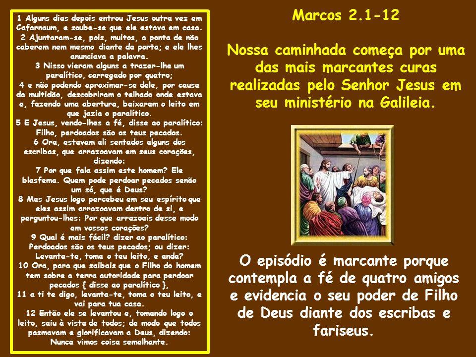 1 Alguns dias depois entrou Jesus outra vez em Cafarnaum, e soube-se que ele estava em casa.