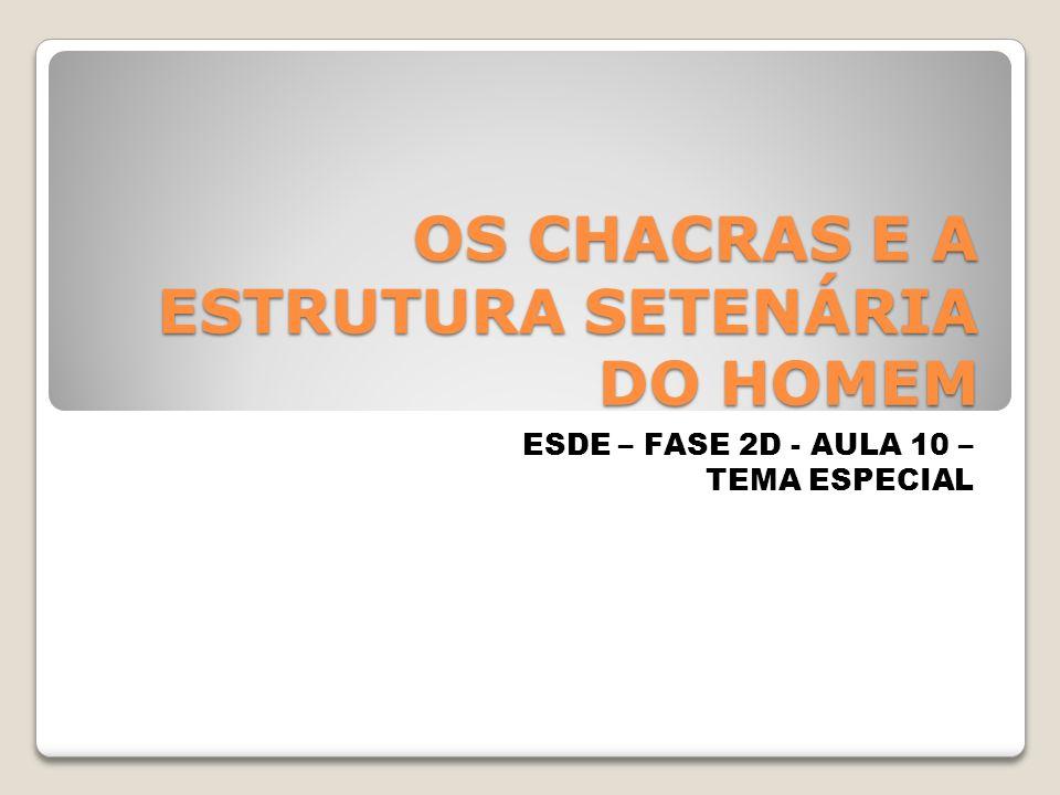 OS CHACRAS E A ESTRUTURA SETENÁRIA DO HOMEM ESDE – FASE 2D - AULA 10 – TEMA ESPECIAL