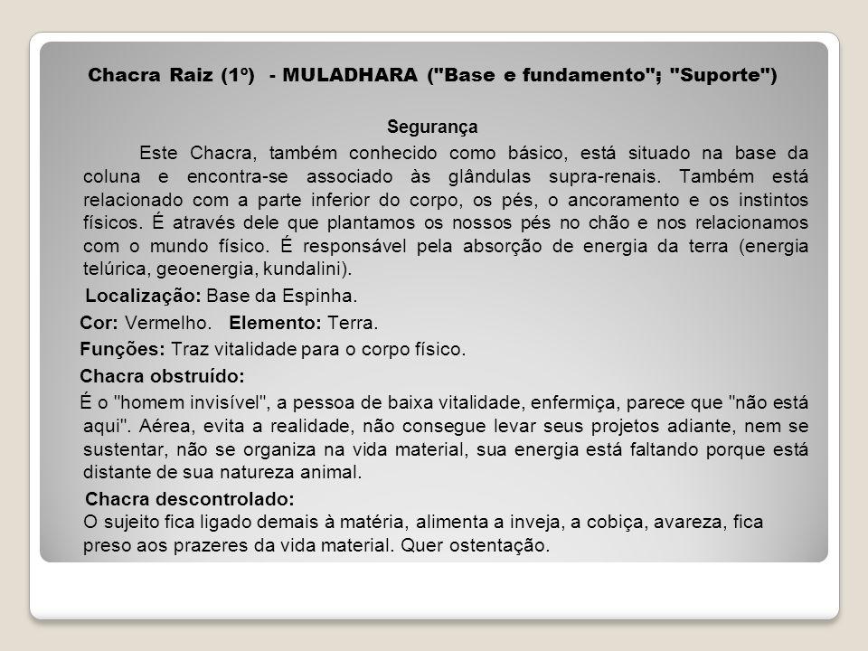 Chacra Raiz (1º) - MULADHARA (