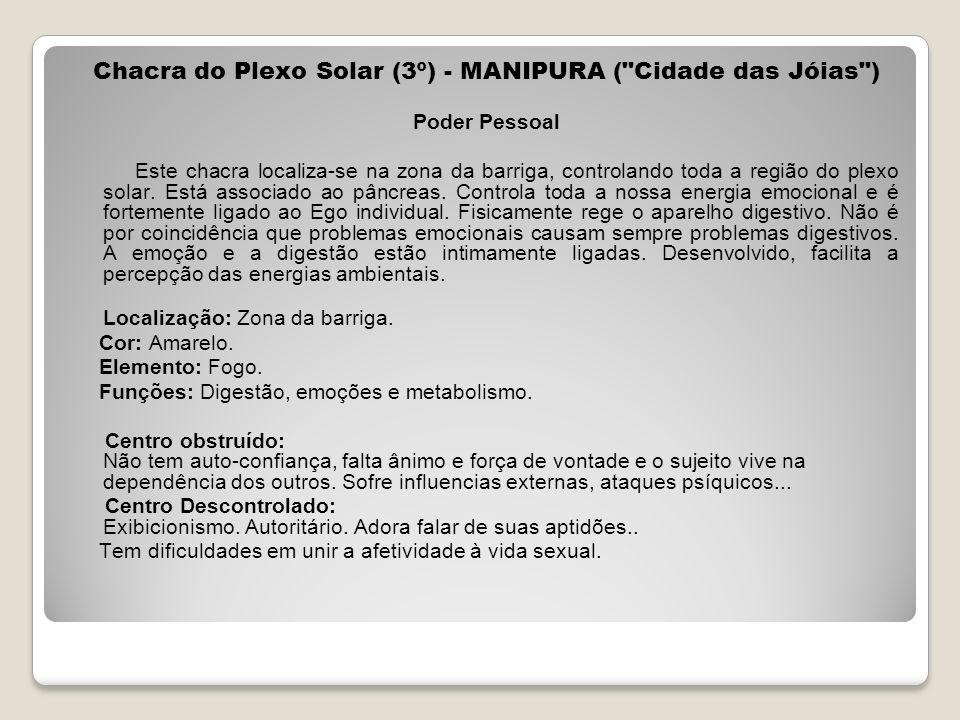 Chacra do Plexo Solar (3º) - MANIPURA (
