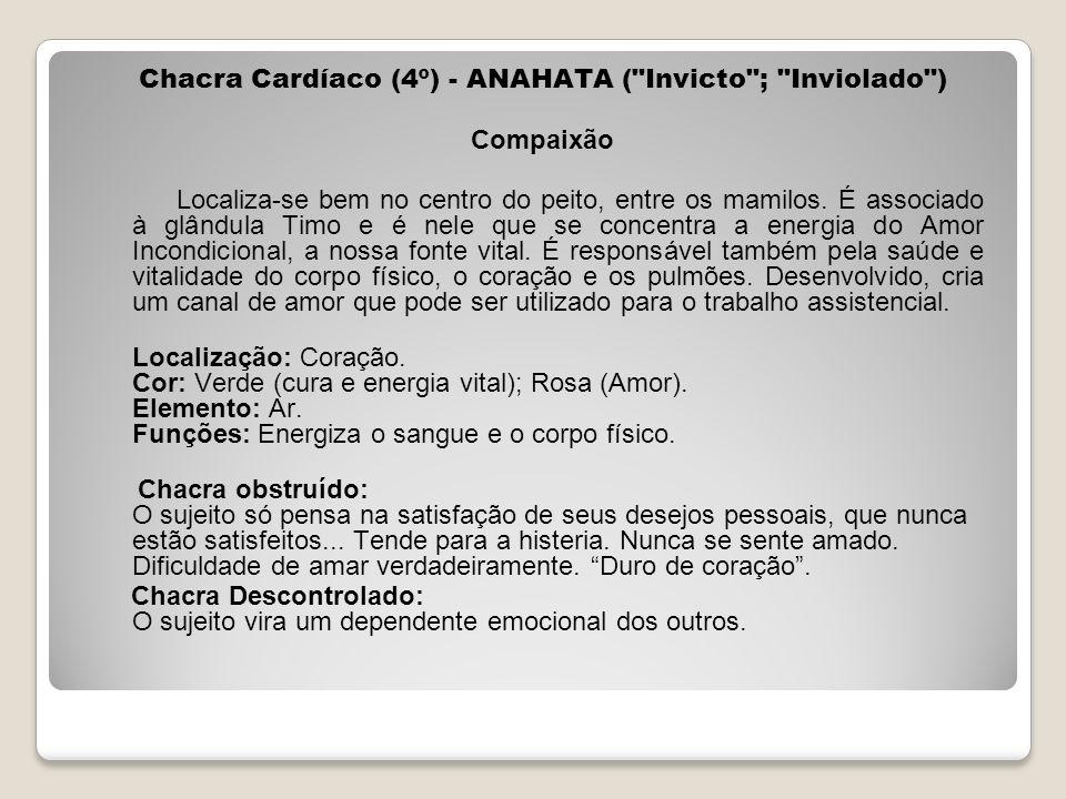 Chacra Cardíaco (4º) - ANAHATA (