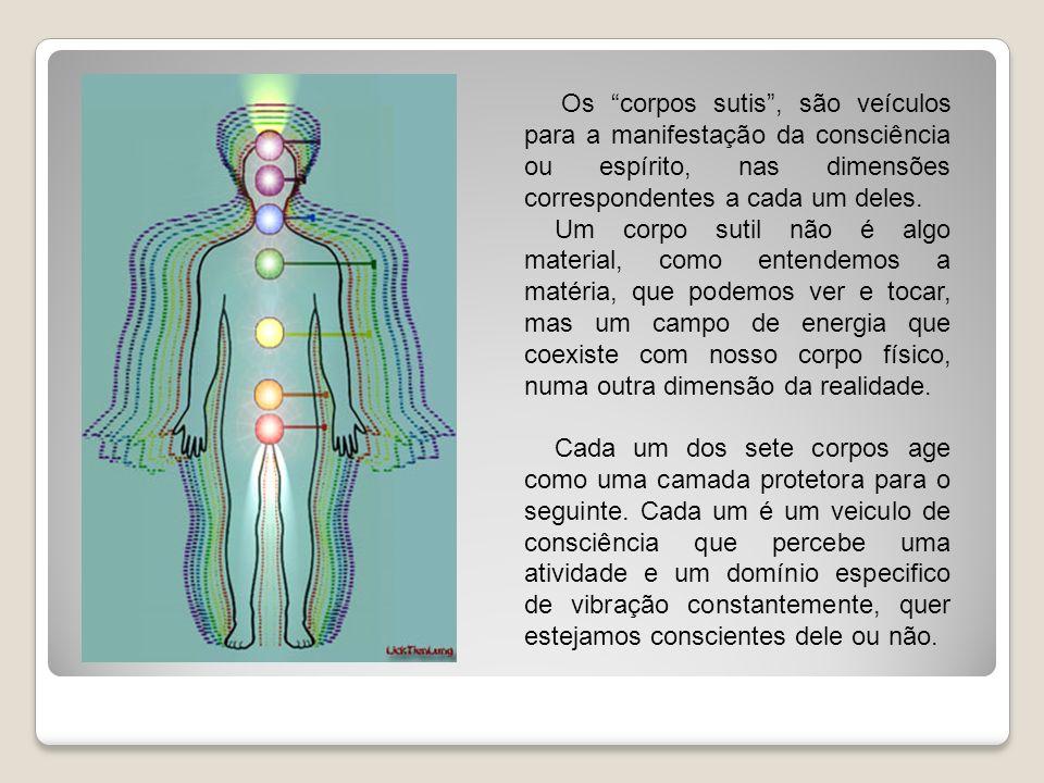 Os corpos sutis, são veículos para a manifestação da consciência ou espírito, nas dimensões correspondentes a cada um deles. Um corpo sutil não é algo