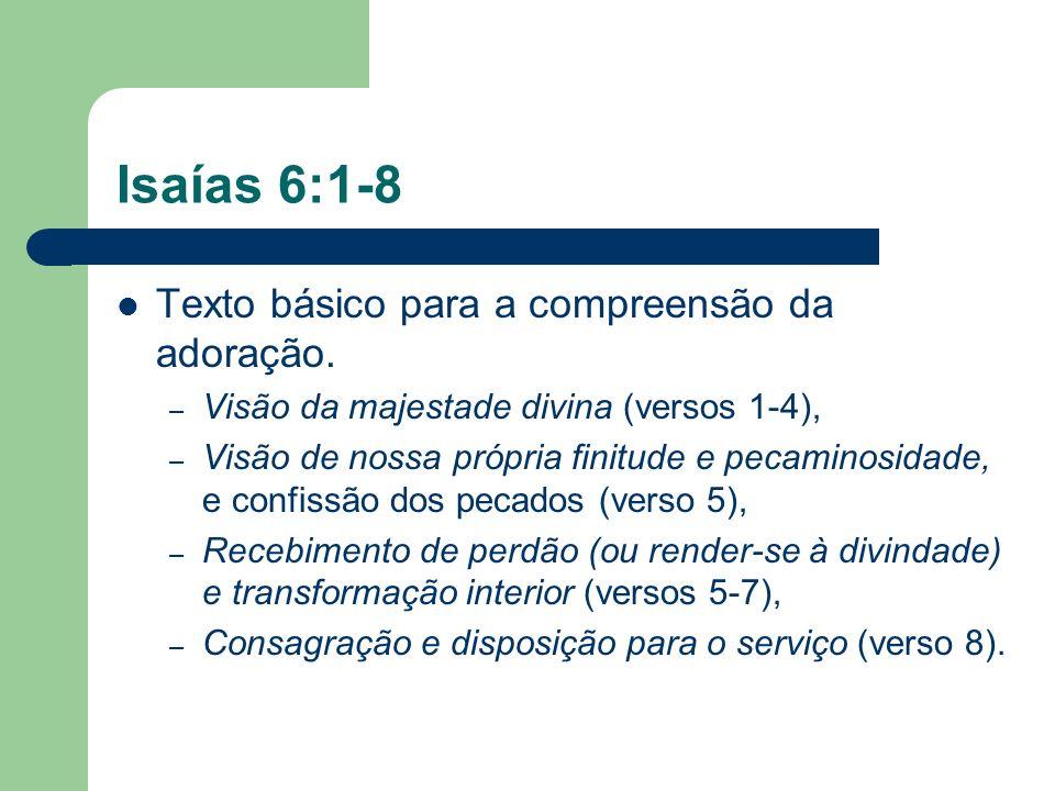 Isaías 6:1-8 Texto básico para a compreensão da adoração.