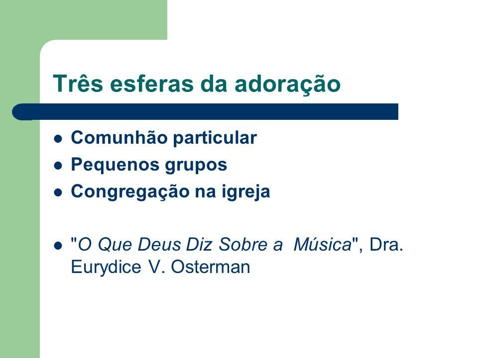 Três esferas da adoração Comunhão particular Pequenos grupos Congregação na igreja O Que Deus Diz Sobre a Música , Dra.