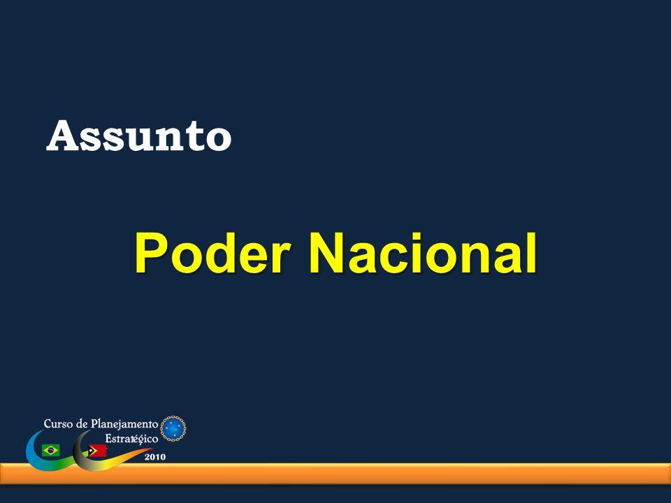 Estrutura do Poder Nacional Fundamentos São os elementos básicos da composição do Poder.