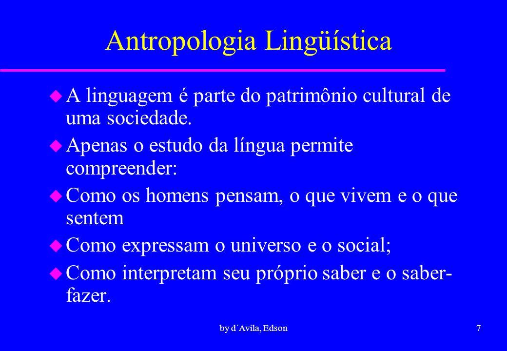 8by d´Avila, Edson Antropologia Psicológica u Consiste no estudo dos processos e funcionamento do psiquismo humano u O antropólogo é em primeira estância confrontado não a conjuntos sociais, e sim a indivíduos.