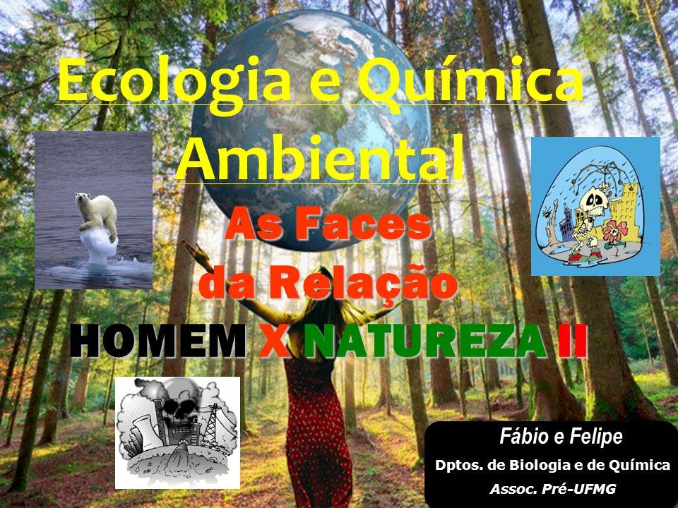 As Faces da Relação HOMEM X NATUREZA II Ecologia e Química Ambiental Fábio e Felipe Dptos. de Biologia e de Química Assoc. Pré-UFMG