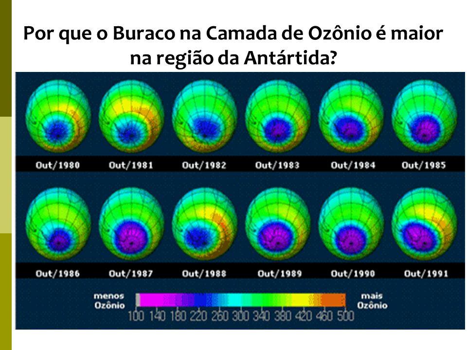 Por que o Buraco na Camada de Ozônio é maior na região da Antártida?