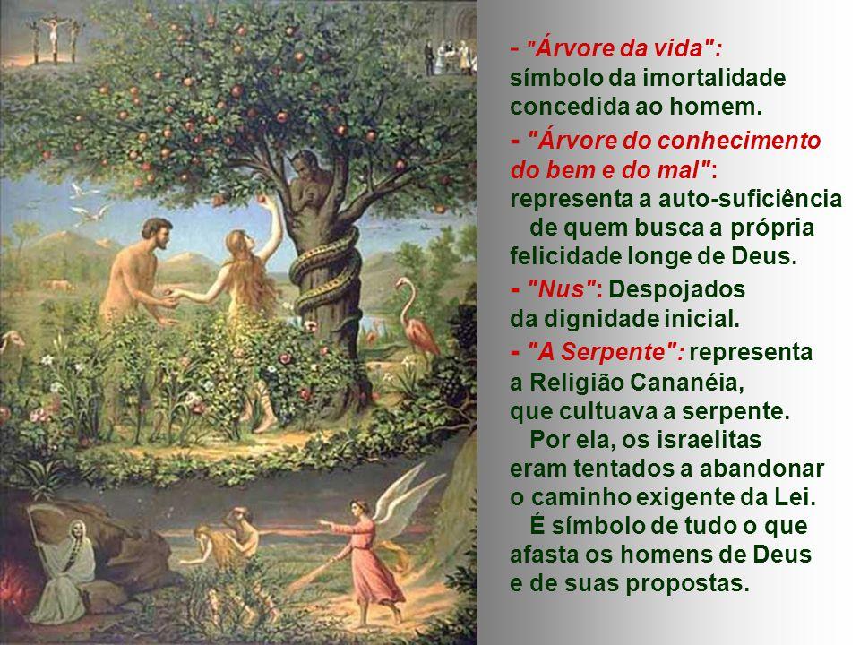- Árvore da vida : símbolo da imortalidade concedida ao homem.
