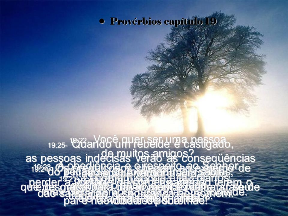 19:21- O homem sonha e faz planos, mas Deus sempre realiza a Sua vontade.