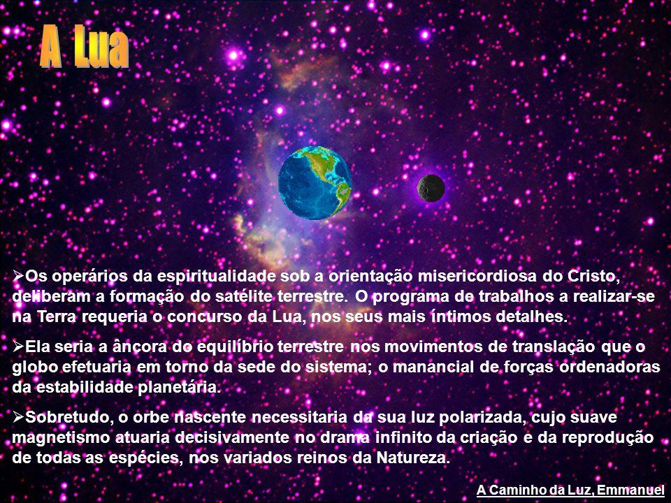 Os operários da espiritualidade sob a orientação misericordiosa do Cristo, deliberam a formação do satélite terrestre. O programa de trabalhos a reali