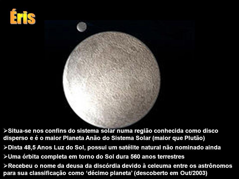 Situa-se nos confins do sistema solar numa região conhecida como disco disperso e é o maior Planeta Anão do Sistema Solar (maior que Plutão) Dista 48,