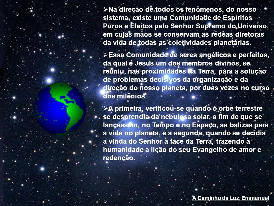 Os operários da espiritualidade sob a orientação misericordiosa do Cristo, deliberam a formação do satélite terrestre.