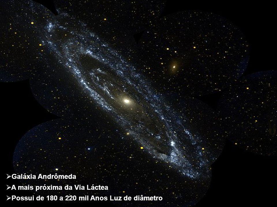 Galáxia Andrômeda A mais próxima da Via Láctea Possui de 180 a 220 mil Anos Luz de diâmetro