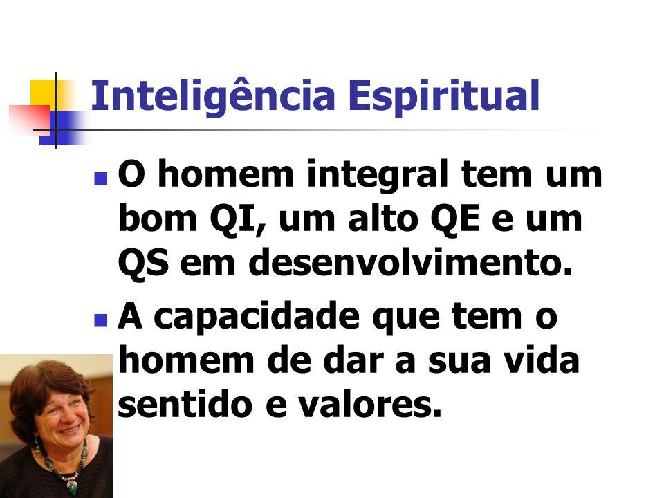 Inteligência Espiritual Valorize seus princípios, mesmo que sejam impopulares; Celebre a diversidade; Descubra a sua vocação, o seu propósito de vida
