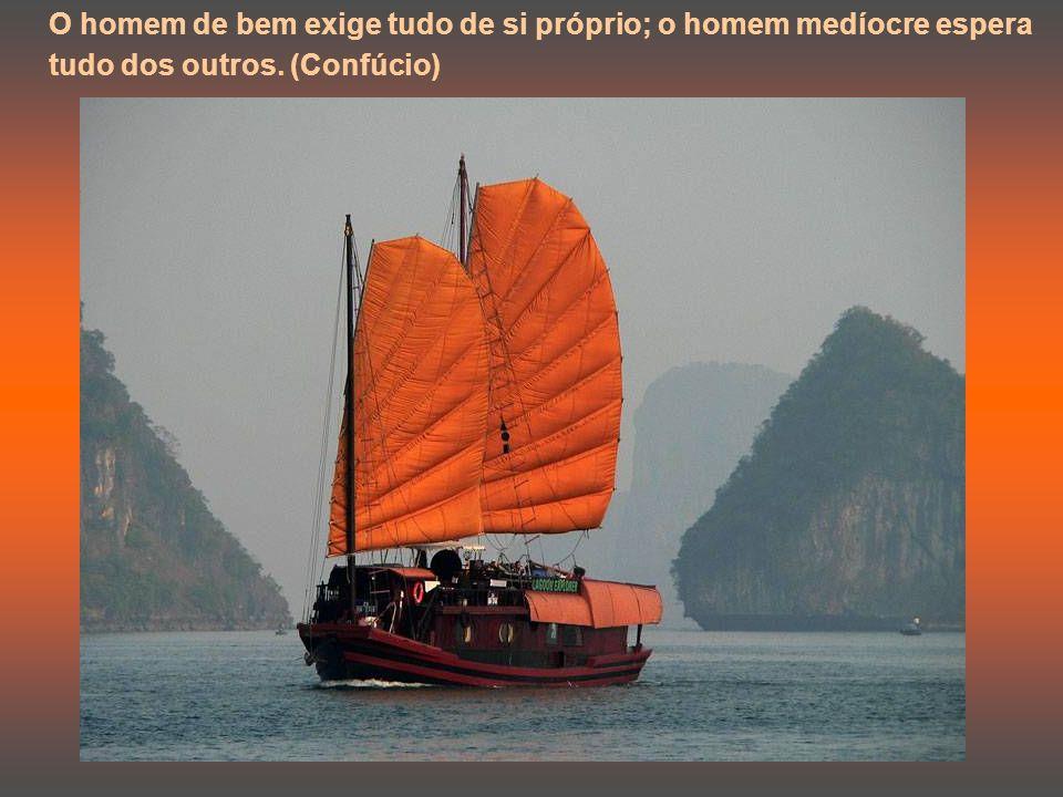 O sábio teme o céu sereno; em compensação, quando vem a empestade ele caminha sobre as ondas e desafia o vento. (Confúcio)