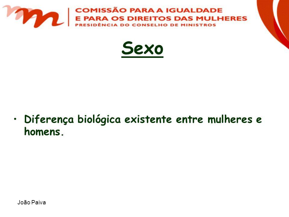 João Paiva Sexo Diferença biológica existente entre mulheres e homens.