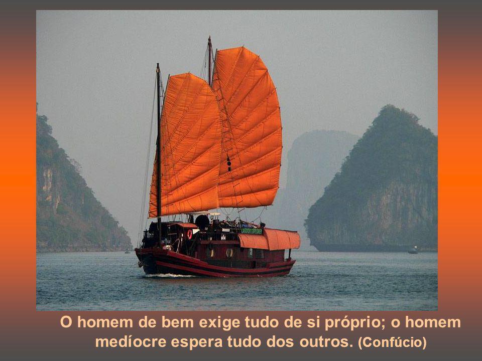 O sábio teme o céu sereno; em compensação, quando vem a tempestade ele caminha sobre as ondas e desafia o vento. (Confúcio)