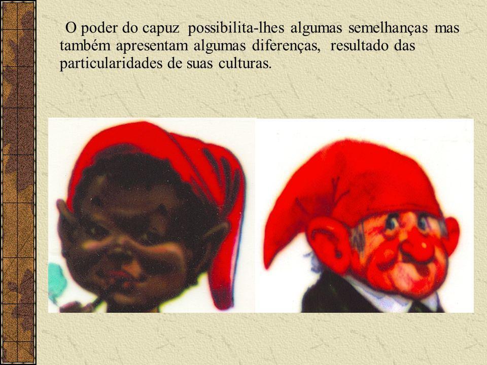 O poder do capuz possibilita-lhes algumas semelhanças mas também apresentam algumas diferenças, resultado das particularidades de suas culturas.