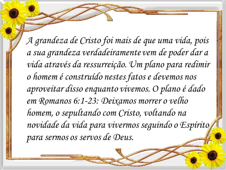  Assim, Cristo é grande para nós, não como um governante terrestre, mas como um governante espiritual nos oferecendo a redenção. (Colossenses 1:14).
