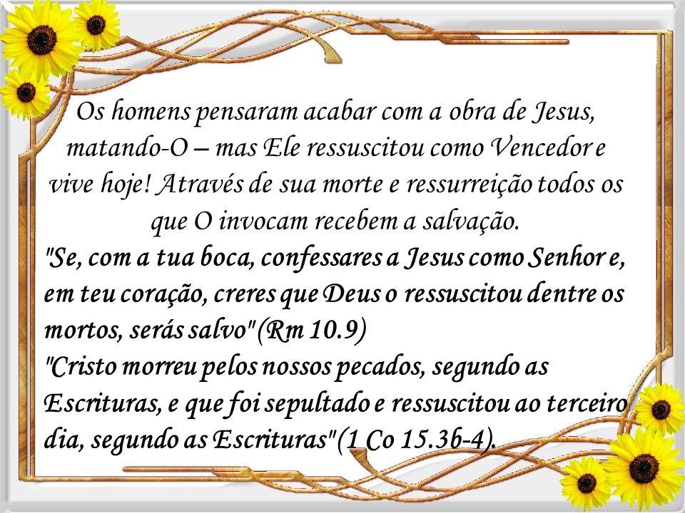 Ele ressuscitou para ser Mediador entre Deus e os homens. Ele deu a sua vida como sacrifício pelos nossos pecados, e só com base em Seu sacrifício no
