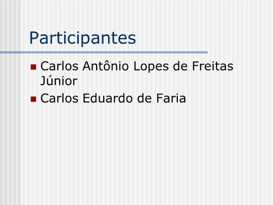 Participantes Carlos Antônio Lopes de Freitas Júnior Carlos Eduardo de Faria