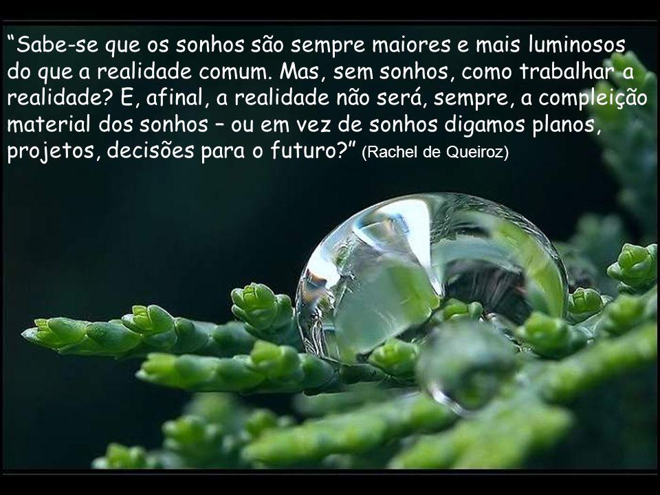 O que alarga a vida de uma pessoa são os sonhos impossíveis. (Clarice Lispector)