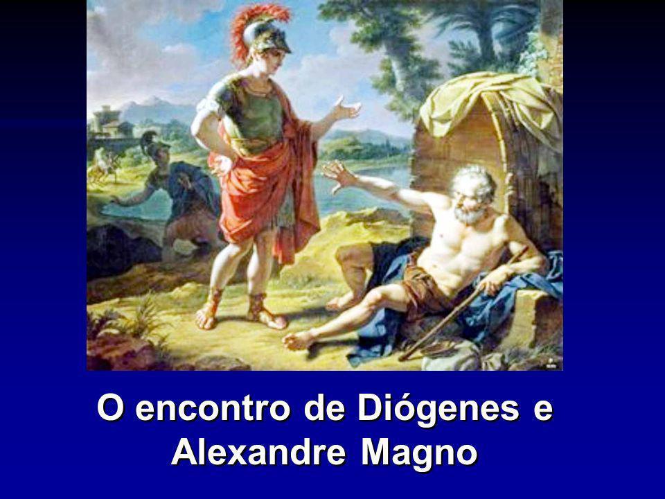 O encontro de Diógenes e Alexandre Magno