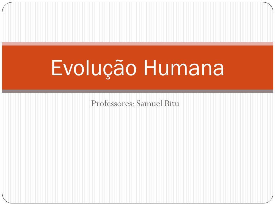 Professores: Samuel Bitu Evolução Humana