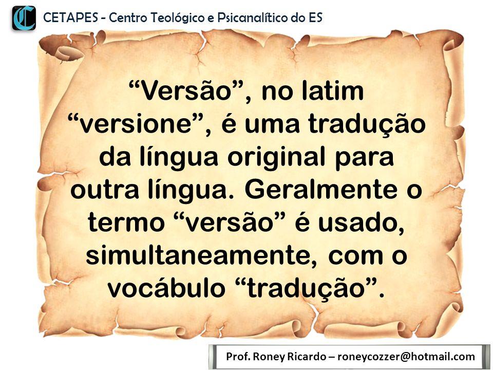 Evitar Ambiguidades: Exemplo: 1 Timóteo 5.3 Prof.