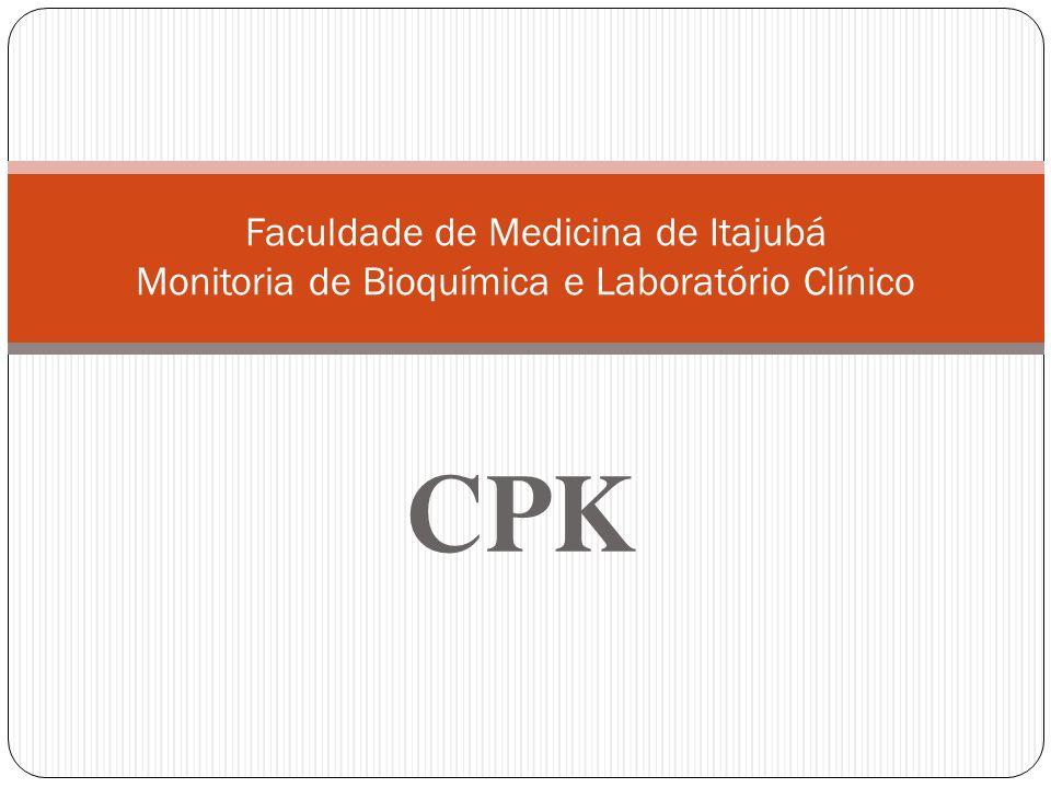 A creatinofosfoquinase (CPK) é uma enzima reguladora importante para o desempenho do metabolismo intracelular dos tecidos contráteis.