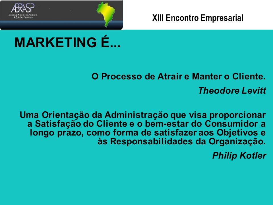 Xlll Encontro Empresarial Marketing e Ética Empresarial: Coexistência Possível.