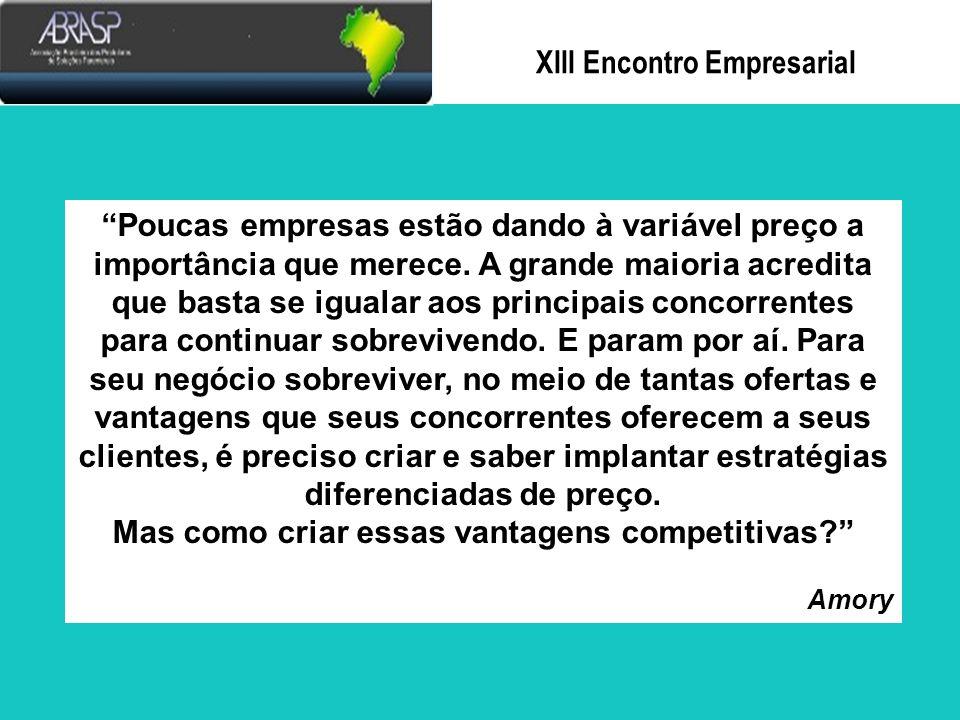 Xlll Encontro Empresarial E SOBRE A CONCORRÊNCIA POR PREÇO.